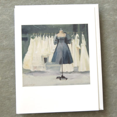 White and Grey 5x7 Art Card Patty Canney