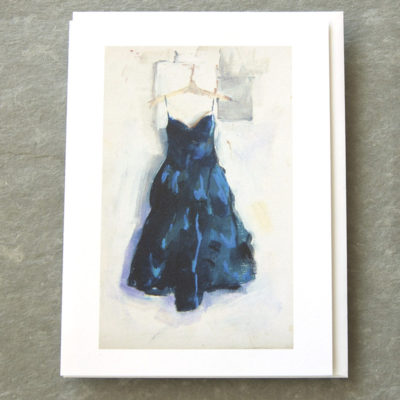 Patty Canney Art Cards Blue Dress Study