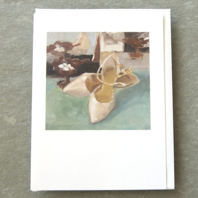 Patty Canney 5x7 art cards Pink Satin Slippers