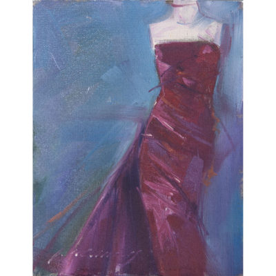 pa canney artist minneapolis garments gowns magenta dior purple